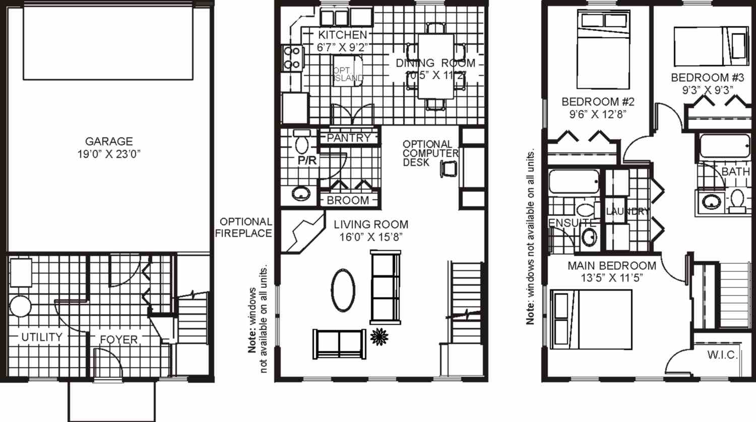 3 bedroom floor plans with dimensions