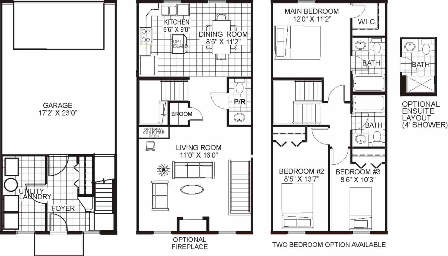 Grandstone on aldgate floorplans for Bedroom ensuite plans